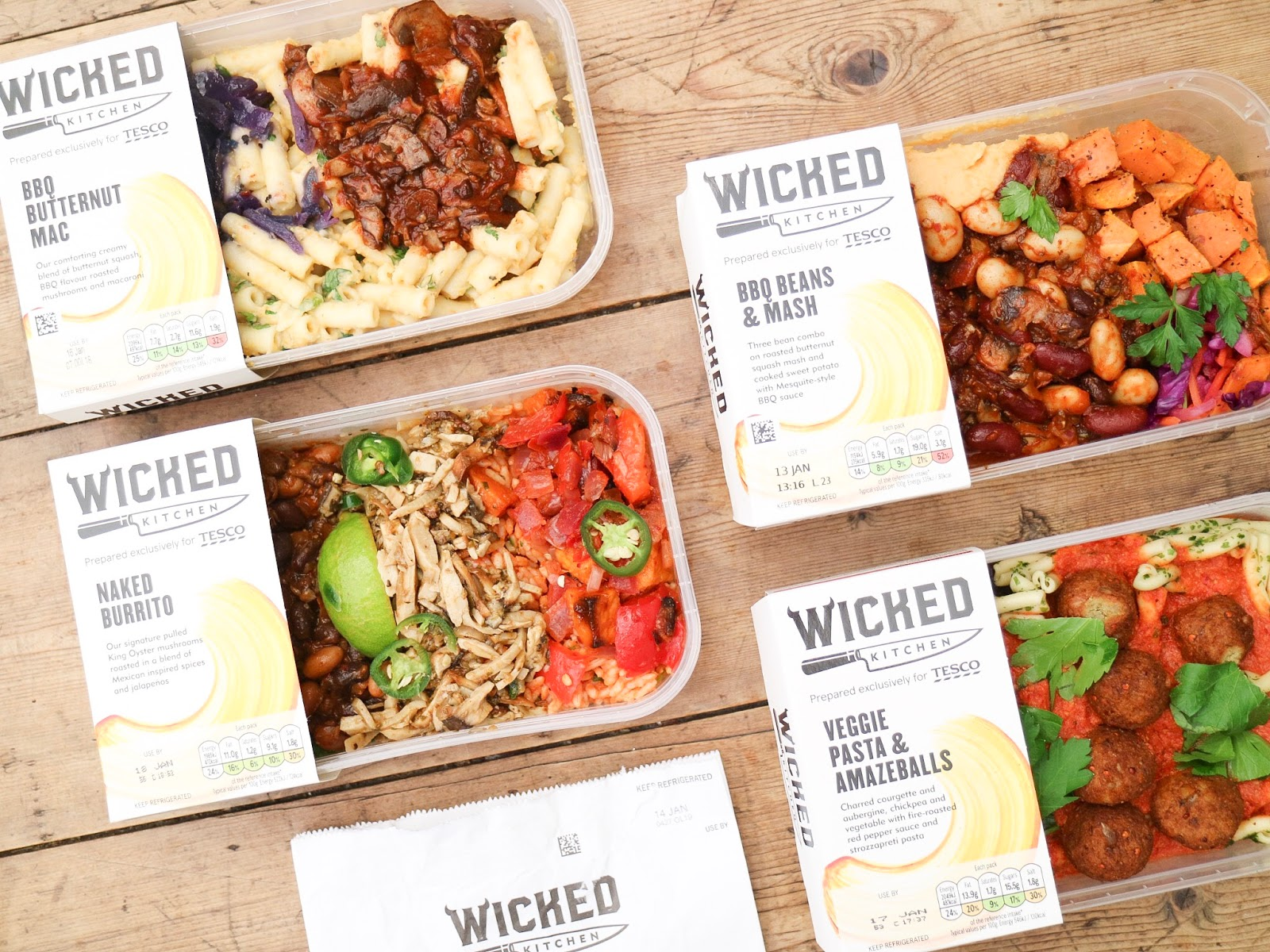 Wicked Kitchen Plant Based Food Range at Tesco