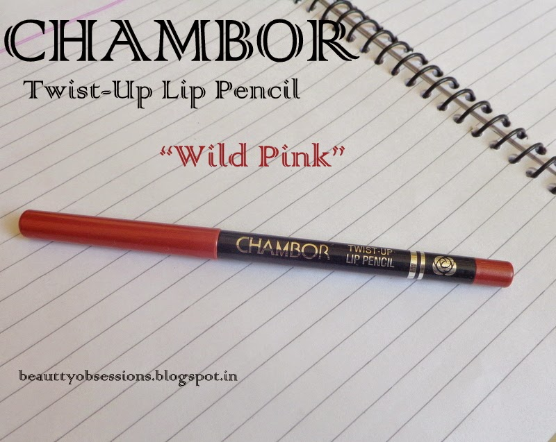 "Chambor Twist-Up Lip Pencil ""106 Wild Pink"" Review"