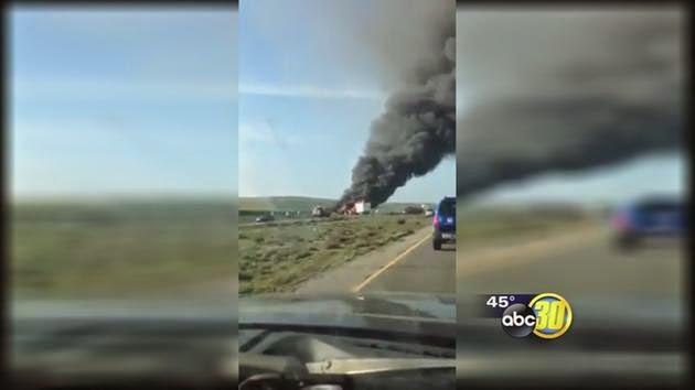 kings county kettleman city I-5 freeway head-on semi truck suv crash fatal