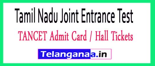 TANCET Admit Card / Hall Tickets 2017 Download