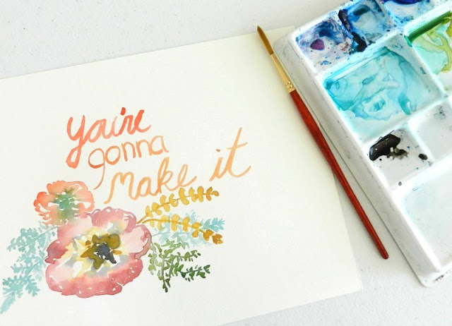 Watercolor Lettering Designs: growcreative