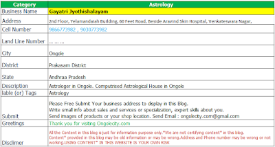 Gayatri Jyothishalayam Astrologer in Ongole. Computrised Astrological House in Ongole
