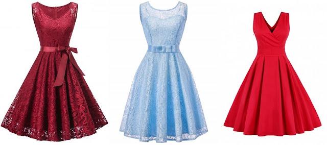 DRESSLILY, przegląd pięknych sukienek w stylu retro.