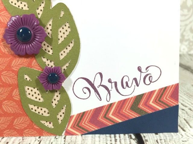 Cricut Artistry Leaf border card