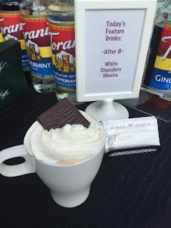 Espresso Catering by Kirby's Latte Bar serving all of the guests at the open house gourmet coffee, made to order!