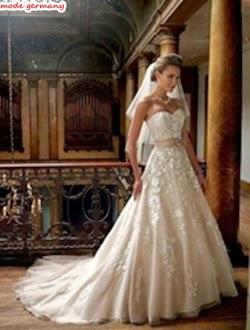 Bestickte Brautkleider