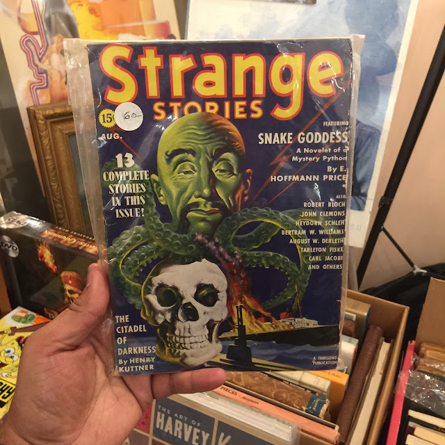 Strange Stories from August 1939 - cover by Earle Bergey