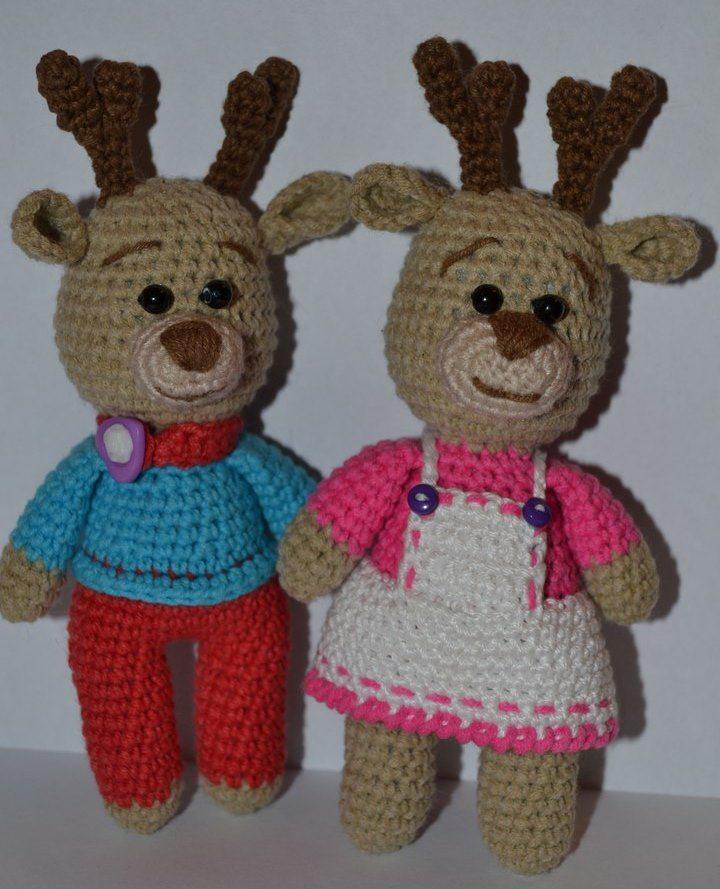 Amigurumi reindeer crochet pattern   Amiguroom Toys