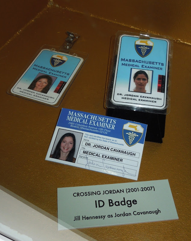 Crossing Jordan ID badge props
