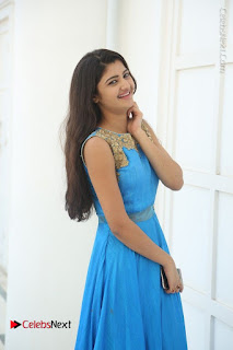 Telugu Actress Akshita (Pallavi Naidu) Latest Stills in Blue Long Dress at Inkenti Nuvve Cheppu Movie Promotions  0025.jpg