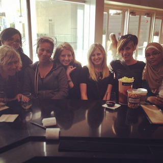 Debra, Amy, Stephanie, Kate, Sarah, Kirsten and Somaiya celebrating the release of the Divergent movie in San Diego 2013