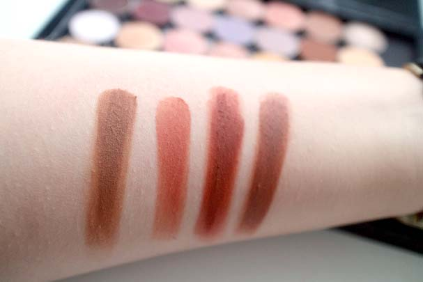 Colourpop Pressed Shadows - Note to Self, I Owe You, Criss Cross, Top Notch