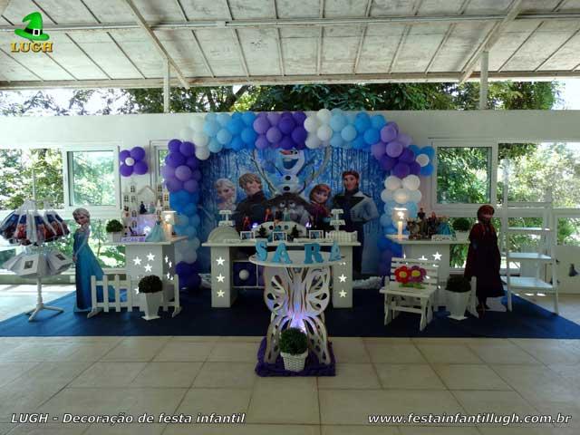 Decoração festa de aniversário infantil - Mesa decorada - Frozen