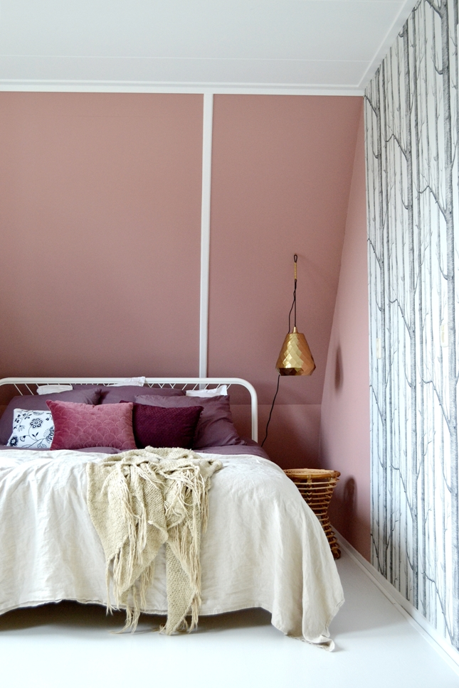 een nieuwe kleur voor de slaapkamer dark blush deel 1