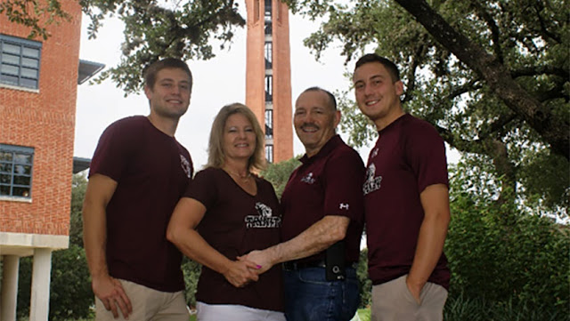 Guerrero family at Trinity University