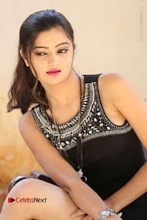 Actress Poojitha Pallavi Naidu Stills in Black Short Dress at Inkenti Nuvve Cheppu Movie Platinum Disc Function  0188.JPG