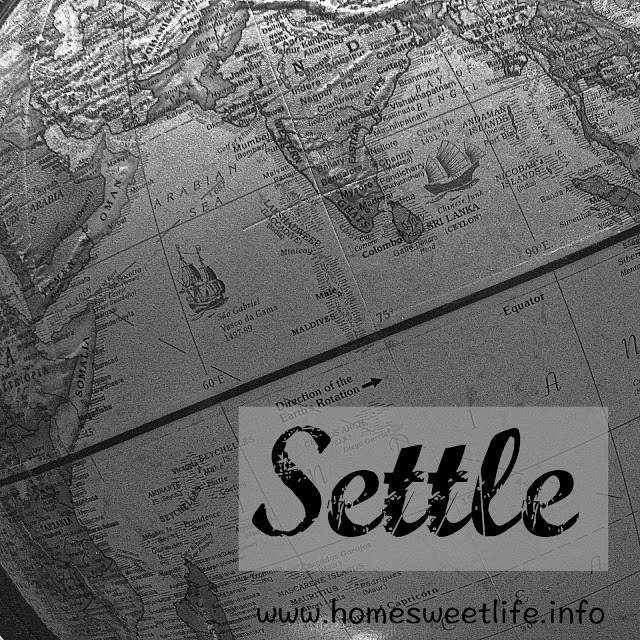settle, belonging, five minute friday