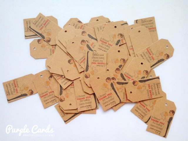 Wedding Gift Tags Singapore : These kraft tags are suitable for wedding or birthday door gifts as a ...