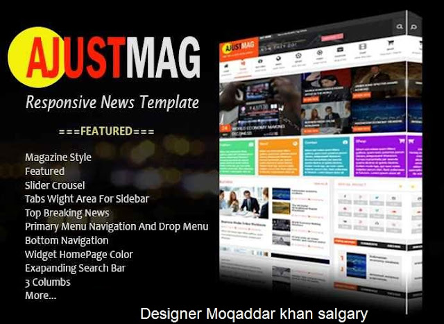 Ajustmag Blogger Template / Theme