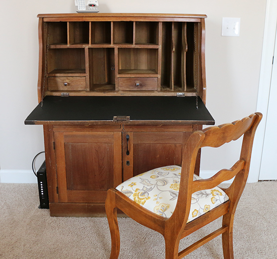 Open Desk with Chair After Renovation