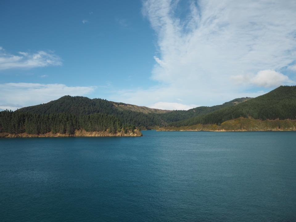 View from Wellington to Picton ferry, New Zealand