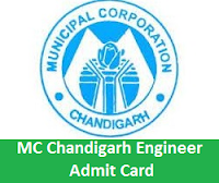 MC Chandigarh Engineer Admit Card