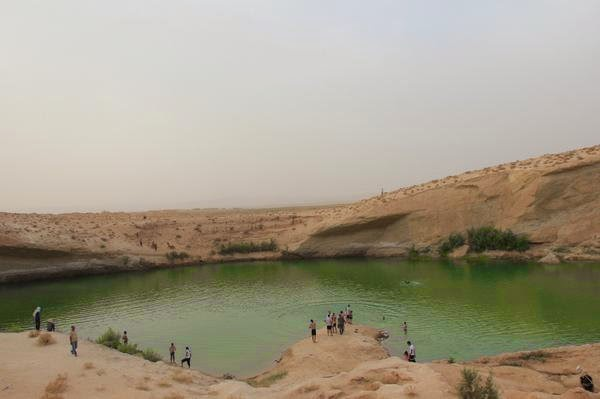 Mysterious lake in Tunisian desert