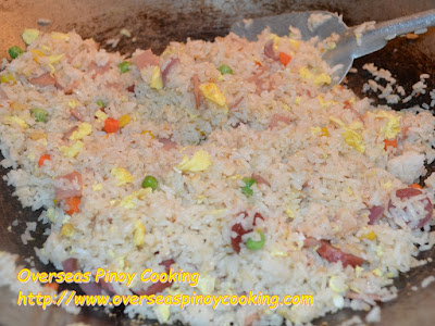 Ham and Egg Fried Rice, Yang Chow Style - Cooking Procedure