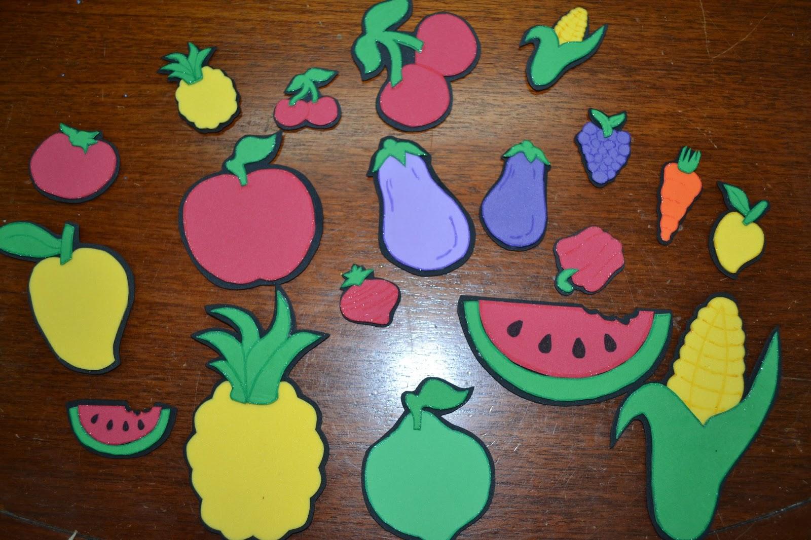 Adas De Foami Imanes Para Nevera Frutas Y Verduras