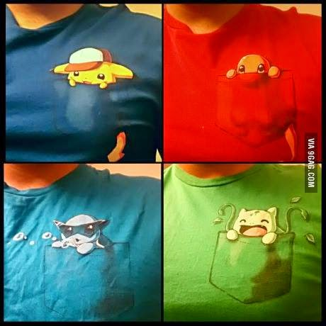 camiseta pokemon