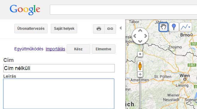 saját térkép KML file megtekintése Google Map (térképen) saját térkép  saját térkép