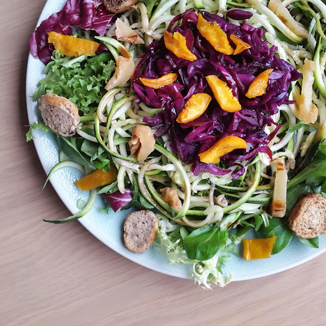 colourful vegan salad