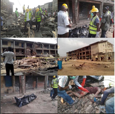 Black Xmas in Lagos: 2 killed, many trapped as building collapses (Photo)