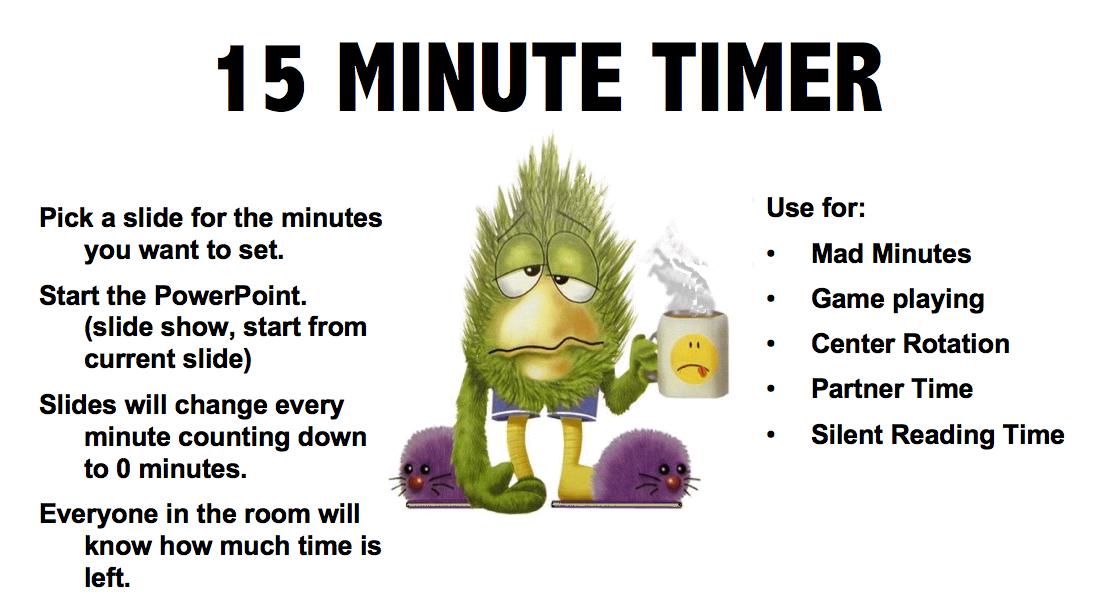 """The Best of Teacher Entrepreneurs: FREE MISC  LESSON - """"15 Minute Timer"""""""