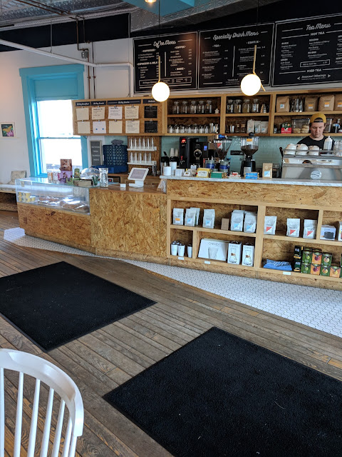 Interior of Adda's, a PIttsburgh Coffee shop in Shadyside near Bakery Square