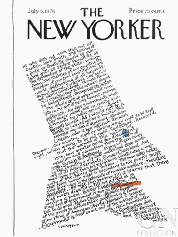 the new yorker vintage 4th july magazine covers, 1976