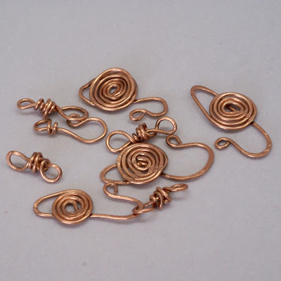 copper clasps by baymoondesign