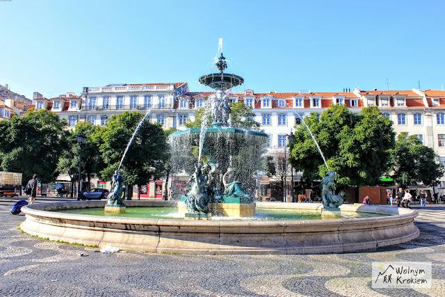 Lizbona fontanna na rynku