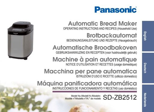 Panasonic SD-ZB2512 Manual - Panasonic Owners Manual User Guide