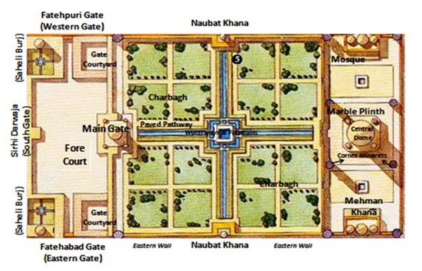full map of taj mahal, heritageofindia, Indian Heritage, World Heritage Sites in India, Heritage of India, Heritage India