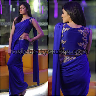 Adah-sharma-blue-binals-saree-for-khanam-promotions