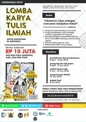 Lomba Karya Tulis Ilmiah Mahasiswa Se-Indonesia Chronicle 2018 STAN