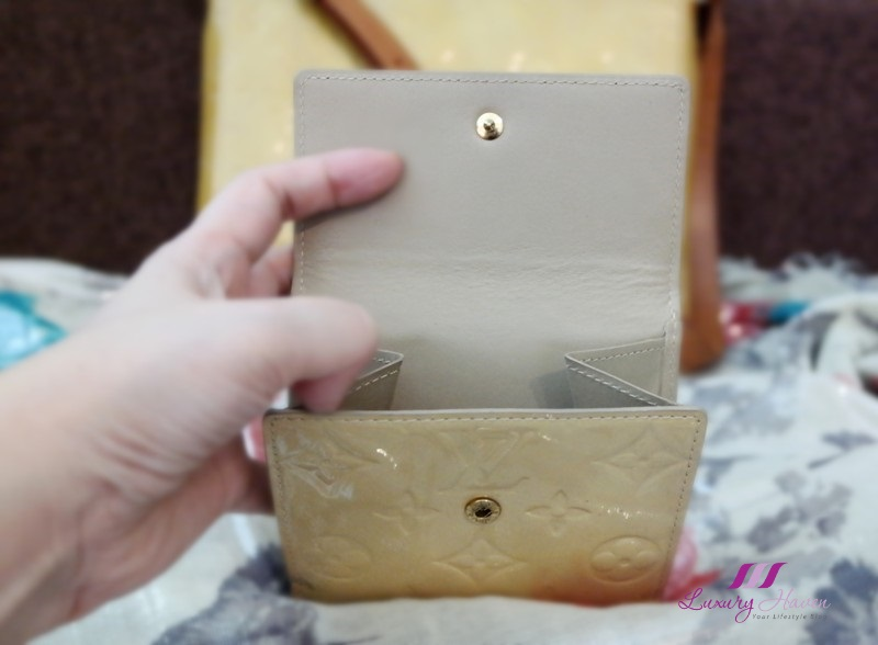 louis vuitton vernis billfold coin purse lv wallet
