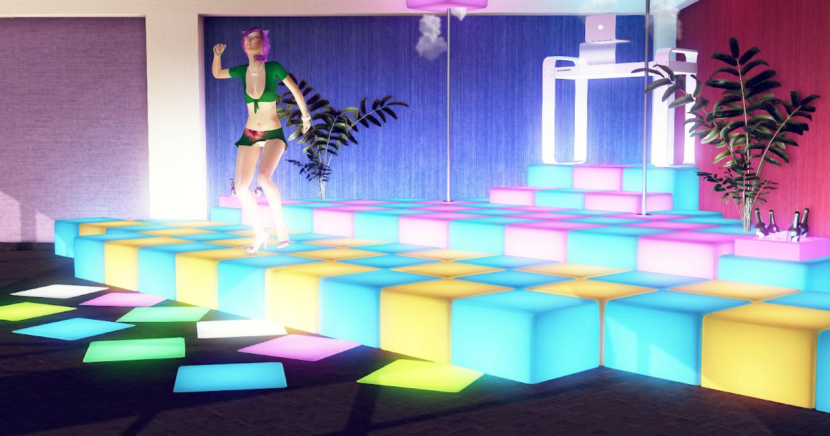 Zinnia 39 s 3dx stuff addon corner dj dance floor extension for 1 2 3 4 sexin on the dance floor
