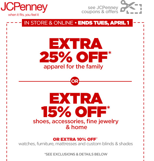 Coupons for jcpenney home store