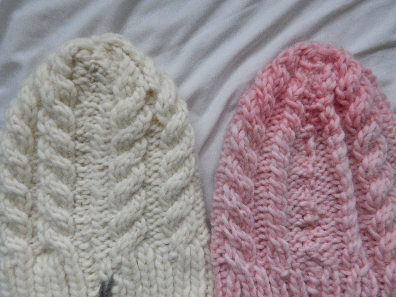 DIY Pink Knitted Cable Hat