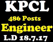 KPCL 486 Assistant Engineer,Junior Engineer Recruitment 2017