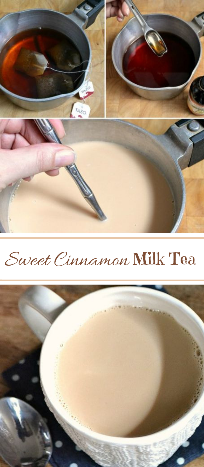 Sweet Cinnamon Milk Tea #fallrecipe #drink