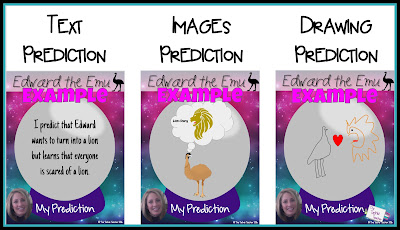 Edward the Emu Making Predictions Activity