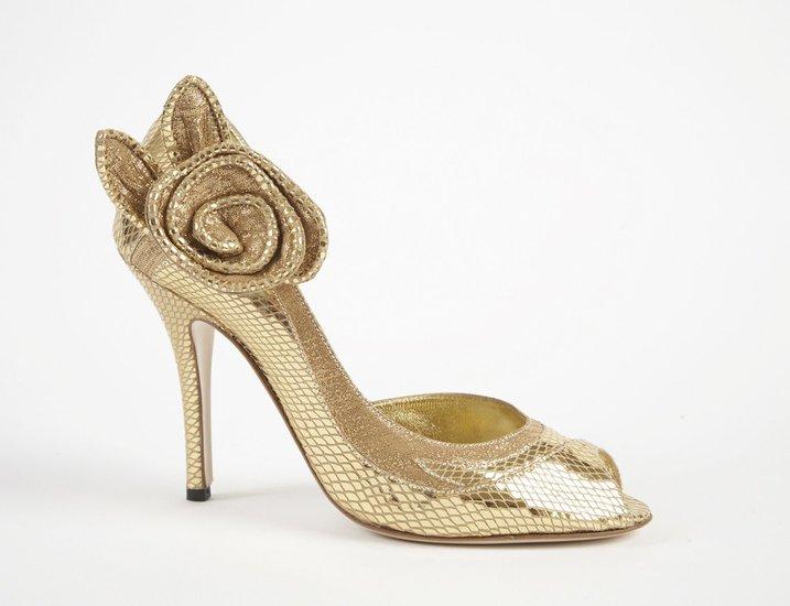 I Heart Wedding Dress: Gold Wedding Shoes